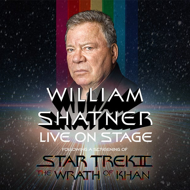 More Info for William Shatner Live On Stage for Conversation and Q&A after a Screening of Star Trek II: The Wrath of Khan